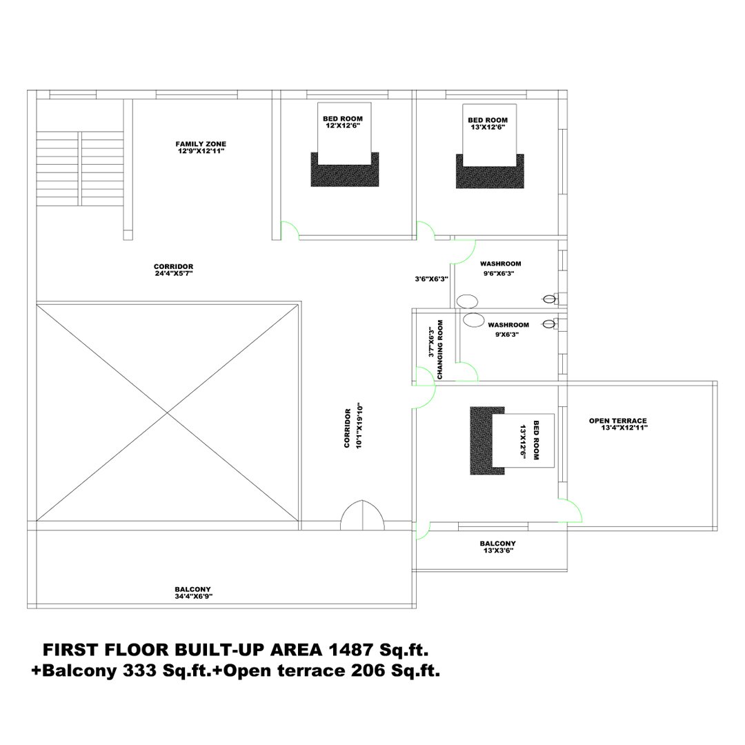 10 KATTHA FIRST FLOOR PLAN