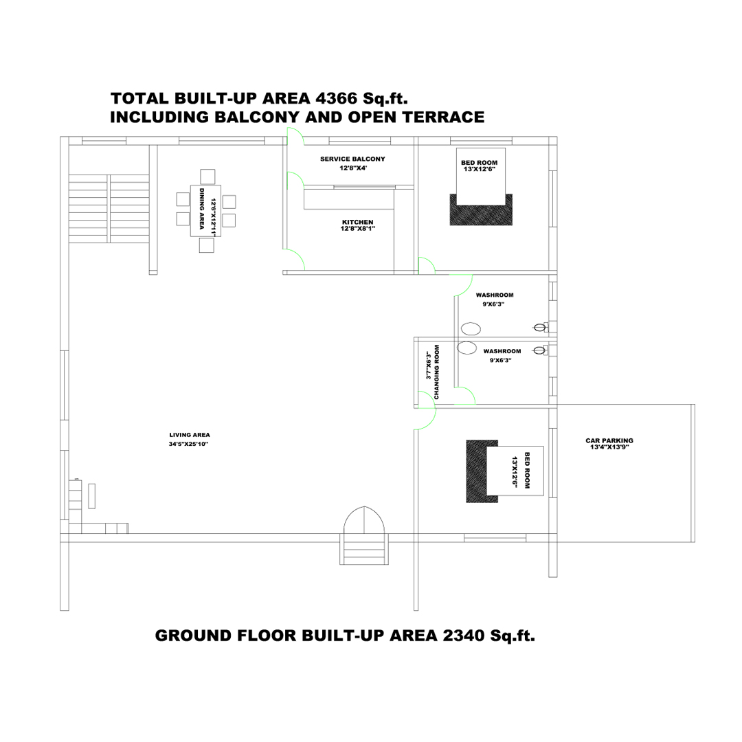 10 KATTHA GROUND FLOOR PLAN